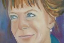 2009-Portret van een theologe, olieverf op doek, 30x40 cm