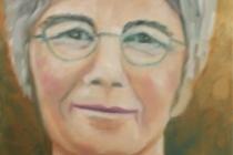 2009-Portret van mijn vriendin, olieverf op doek, 30x40 cm