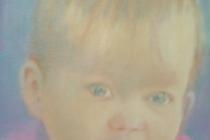 2016-Kleindochter Maartje, olieverf op doek, 40x30 cm