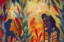 2000-Droombeeld, sjabloonprint, 50x60 cm