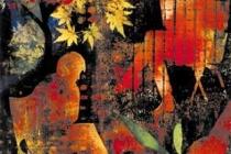 2000-Wachtenden 1, sjabloonprint, 60x80 cm