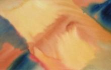 2006-Gele diagonaal, aquarel