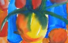 2008-Stilleven 1, aquarel, 50x60 cm