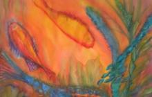 2012-Diepzee1, aquarel, 60 bij 80 cm