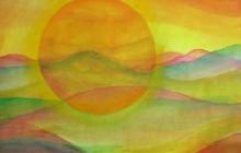2013-Planet Earth 2, aquarel, 80x60 cm