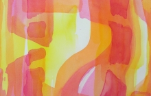 2013-serie kleurklanken 3, aquarel, 50x60 cm