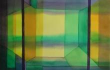 2014-Horizon-taal 2, aquarel 50x65 cm