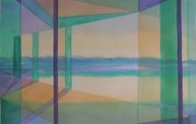 2014-Horizon-taal 7, aquarel 60x80 cm