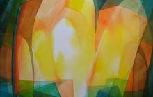 2016-Nr. 3 van de serie Licht doorlatend kleurenspel, aquarel 70x90 cm