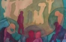 2018-De verdrevenen, aquarel