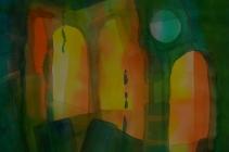 2016-Nr. 1 van de serie Licht doorlatend kleurenspel, aquarel 50x65 cm