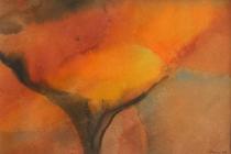 2006-Aquarel met gele kern, aquarel, 40x50 cm