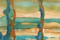 2008-Het land van La Mancha, aquarel, 40x50 cm