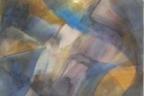 2013-Aquarel in grijstinten (donker), aquarel, 50x60 cm