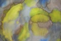 2013-Aquarel met geel in grijs, aquarel, 50x60 cm