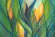 2016-Ontkiemend geel, aquarel 60x65 cm