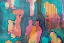2018 Diaspora, aquarel, 60 bij 80 cm