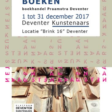 Tentoonstelling kunstenaarsboeken bij boekhandel Praamsma